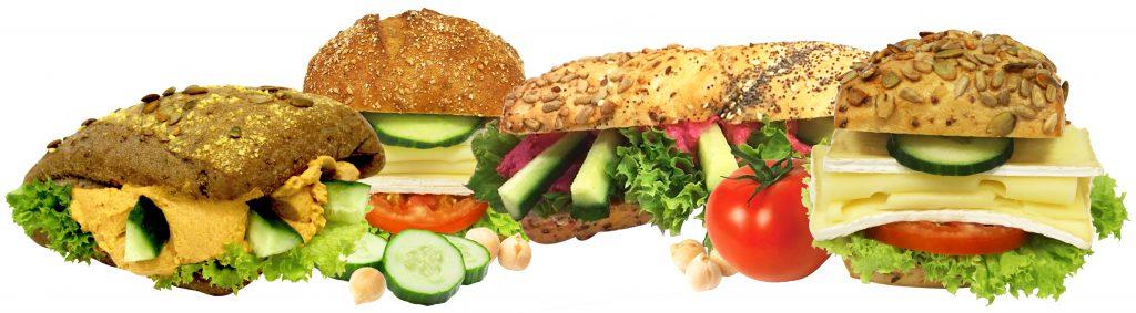 Produktbilder unserer veganen/vegeatrischen neuer Sandwiche.