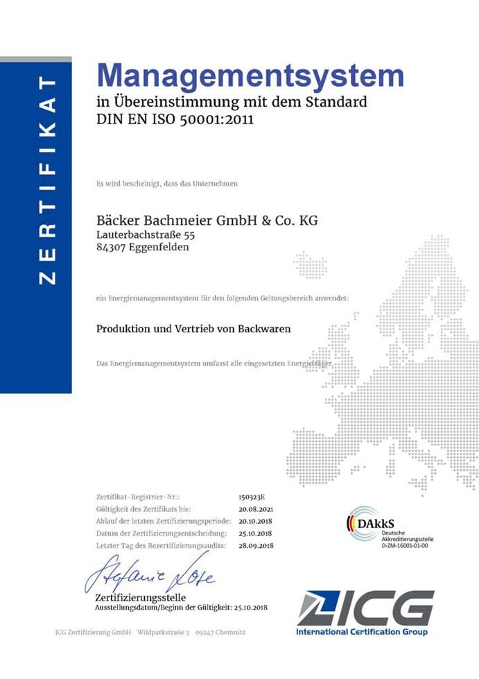 Bäcker Bachmeier Management Zertifikat